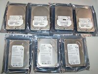 "Lot of (7) mixed 3.5"" SATA HDD 80GB (Hitachi/Seagate) Scanned & Security Wiped"