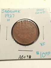 1927-H Sarawak One Cent Coin Extra Fine #AB091