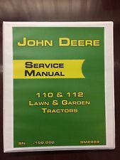 John Deere 110 & 112 Lawn & Garden Tractors Tractor Service Manual Book