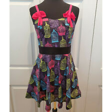 Hot Topic Punk Black Pink Purple Too Fast skeleton Birdcage Dress S Small NWT