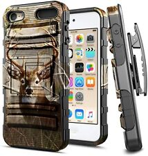 For iPod Touch 5th 6th 7th Gen Case Armor Belt Clip Cover + Built-In Kickstand