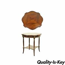 Antique French Empire Regency Style Rosewood Mahogany Brass Ormolu Accent Table