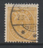 Iceland - 1897, 3a Yellow stamp - Perf 12 1/2 - G/U - SG 26 (a)