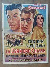 Affiche belge LA DERNIERE CHASSE - DE LAATSTE JACHT Richard BROOKS Robert TAYLOR