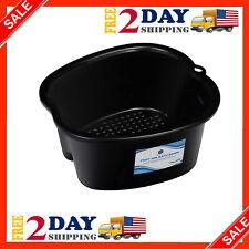 Foot Basin Bath Soaking Spa Feet Tub Pedicure Soak Large Bucket Massager Black