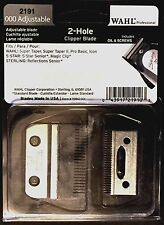 WAHL PROFESSIONAL 2 HOLE BLADES 000 OVERLAP  2191 UPC, 043917219103 MADE IN USA