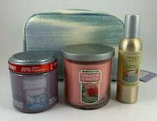 Yankee Candle Gift Set Room Spray Candle Fragrance Spheres & Pouch Citrus Rose