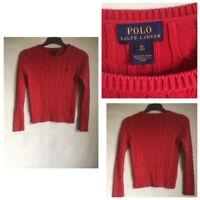 Polo Ralph Lauren Kids Red Cotton/Polyester Round Neck Jumper Age 16(B498)