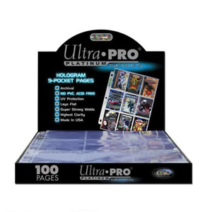 Ultra Pro Platinum 9-Pocket Pages (25 Pages)