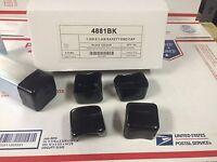 (Qty 10) Plastic BLACK End Caps for Unistrut Channel 1-5/8'' X 1-5/8'' #4881BK