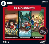 DIE FERIENDETEKTIVE - DIE FERIENDETEKTIVE HÖRBOX 2 FOLGEN 4-6 3 CD NEU