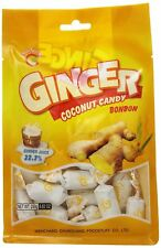 1 BAG Chun Guang Ginger Coconut Hard Candy 8.82 oz Bonbon English Packaging