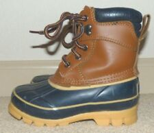 Kid's Size 11 Northwest Territory Leather Blue Rubber Thermo Lite Winter Boots