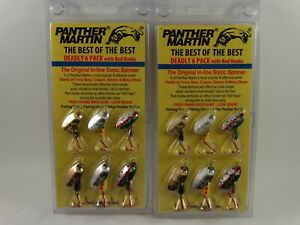 12 Panther Martin Lures Deadly 6 Pack Red Hook