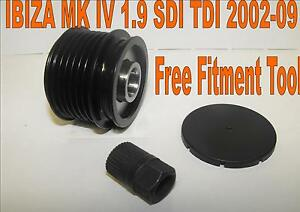 NEW SEAT IBIZA MK IV 1.9 SDI TDI ALTERNATOR FREE WHEEL CLUTCH PULLEY 2002-09