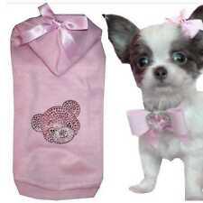 Gr.S Chihuahua Hundemode Hundemantel Hundepullover Fleece Winter Bär  A95