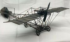 Early Airplane Model Art Handcrafted & Sculpted From Metal And Copper
