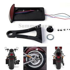 SIDE MOUNT LICENSE PLATE LIGHT BRACKET LED LIT FOR HARLEY MOTORCYCLE VERTICAL US