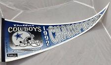 Dallas Cowboys Felt Pennant Super Bowl XXVII Champions 1992 NFL Football VTG