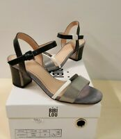 ёgris)Luxus Marken Bibi Lou Schuhe Sandalen Leder Gr.36 38 39 Leder NEU 105€
