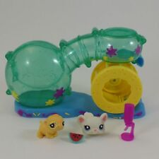 Littlest Pet Shop mouse hamster habitrail lot wheel cage playset mice 1755 1756