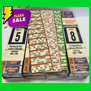 Bingo Tickets 3 Page Game Bingo Books Tickets 12v 6v Standard Bingo Books 1500