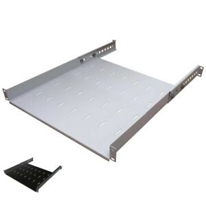 """19""""-Fachboden von IT-Budget - Tragkraft 40 kg - Auswahl 350 bis 650 mm Tiefe"""