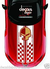 Corvette Racing Hood Decal Stripes C3 C4 C5 C6 C7 ZO6 ZR1 year 2013 and below