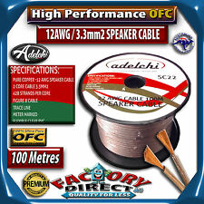 100M High Performance 12 AWG 3.3mm2 100% Ultra Pure OFC Audio Cable Speaker Wire