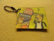 Vintage Chevron Gasoline  Keychain - Changing Picture