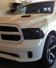 13-17 Dodge Ram precut HEADLIGHT tint vinyl smoked covers   $5 refund available