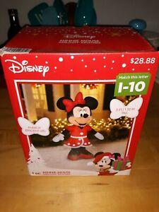 Christmas Disney 5 ft LED Minnie Mouse Airblown Inflatable NIB