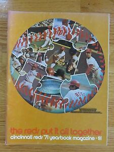 1971 CINCINNATI REDS Yearbook JOHNNY BENCH PETE ROSE SPARKY ANDERSON TONY PEREZ