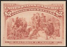 """US Sc# 242P4 *MINT NGAI* { """"SCARCE -XF- $2 COLUMBIAN } PROOF ON CARD FROM 1893"""