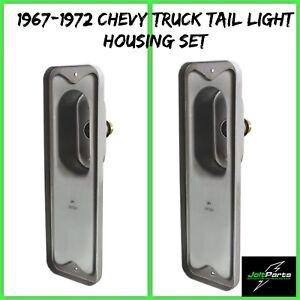 United Pacific C677207-2 1967-72 Chevy & GMC Fleetside Truck Tail Light Housings