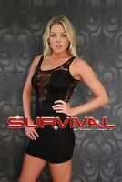 Womens New Lace Dress Size 8-10 Hot Club Wear Party Sleeveless Cocktail Formal