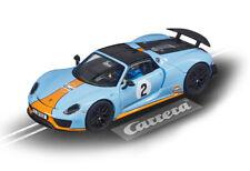 """Carrera 27549 - Evolution PORSCHE 918 SPYDER """"GULF RACING NO.02"""" Auto NEU"""
