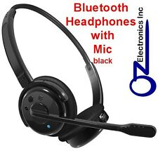 NEW Wireless PS3 Bluetooth Stereo Headset Mic Skype Black Truck iphone 6 7 8 10