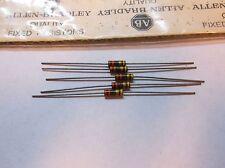 5 Allen Bradley Carbon Comp Resistor RCR20G335JS 3.3 m(meg) 1/2W 5%