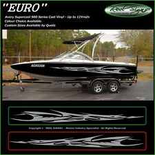 "BOAT GRAPHICS DECAL STICKER KIT ""EURO -2800""  MARINE CAST VINYL"