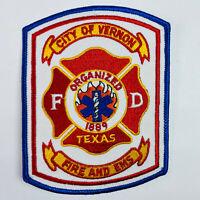 Vernon Fire Department EMS Texas TX Patch (E1)