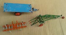 3 DIE CAST AGRICULTURAL or FARMING VEHICLES - BRITAINS - CRESCENT - SPARES