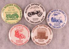 Antique Tracker - Engine Show Badges, Meriden, KS 1980's (5 pieces)