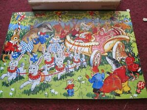 Vintage Victory Wood Jigsaw Puzzle - The Woodland Procession. childrens puzzle