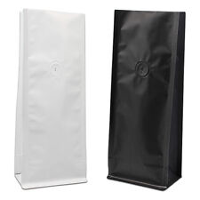 Kraft Coffee Bean Bags 8-16oz Aluminum Mylar Foil Side Gusseted Pouch with Valve
