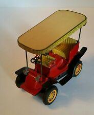 Bandai Tin Litho Friction Old Toy Antique Car Vintage Surrey with fringe Japan