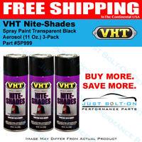 VHT Nite-Shades Spray Paint Transparent Black Aerosol SP999 (11 Oz.) 3-Pack