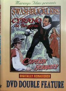 Swashbucklers Double Feature DVD - Cyrano de Bergerac & Captain Scarlett DVD