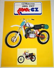 JAWA CZ MOTOCROSS ISDT JAWA 1978 ORIGINAL BROCHURE - 100% MINT CONDITION UNUSED