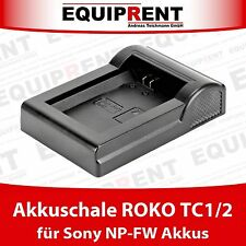 ROKO TCP-FW50 Akkuschale für ROKO TC1 / TC2 Ladegerät (Sony NP-FW50 Akku) EQE66